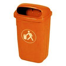 Abfallkorb Aussenbereich 50l orange - Contena-Ochsner Onlineshop